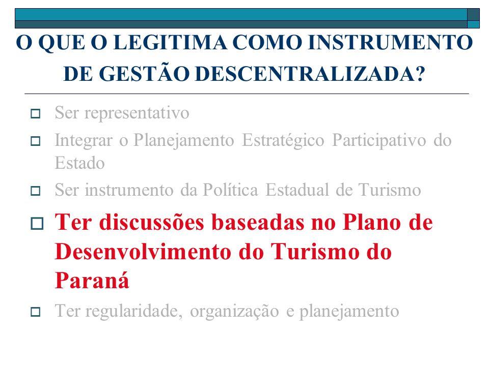 O QUE O LEGITIMA COMO INSTRUMENTO DE GESTÃO DESCENTRALIZADA.