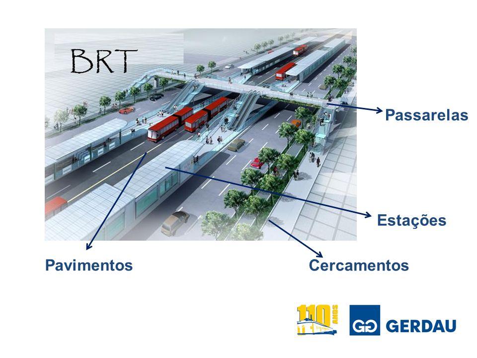 Passarelas Estações Pavimentos Cercamentos