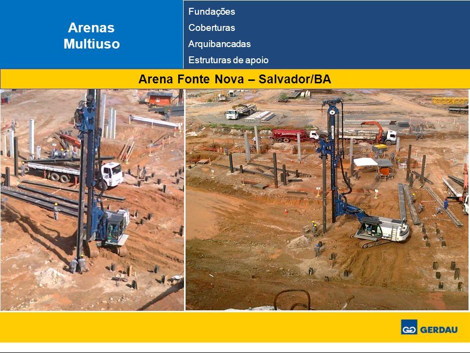 Arenas Multiuso Fundações Coberturas Arquibancadas Estruturas de apoio Arena Fonte Nova – Salvador/BA
