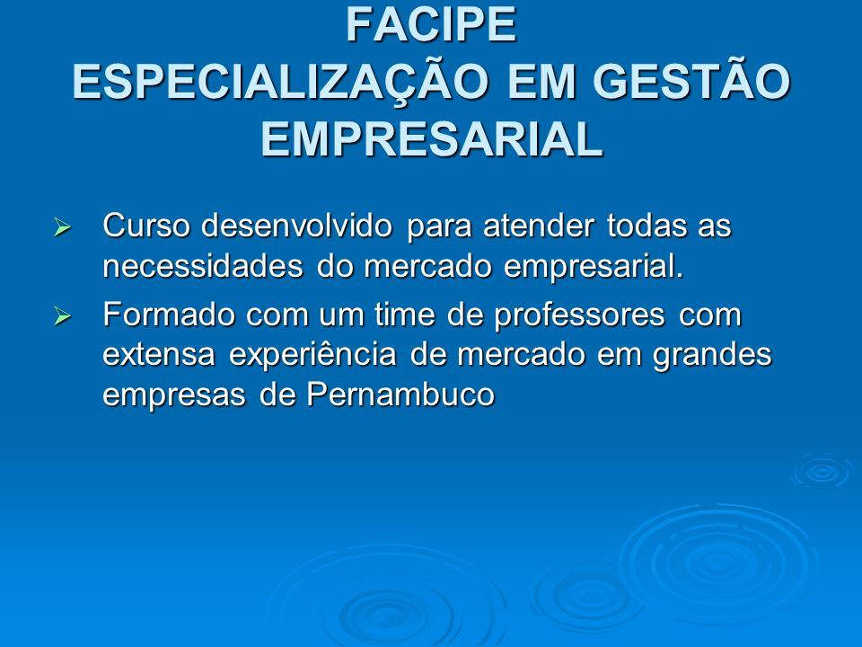 ESPECIALIZAÇÃO EM GESTÃO EMPRESARIAL Diferenciais: Diferenciais:.