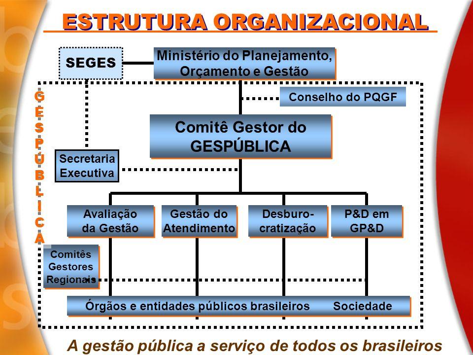 ESTRUTURA ORGANIZACIONAL Secretaria Executiva Ministério do Planejamento, Orçamento e Gestão Ministério do Planejamento, Orçamento e Gestão Avaliação