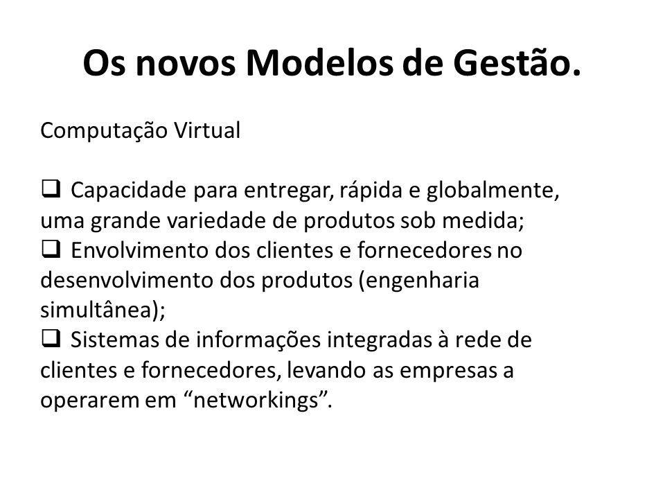Computação Virtual Capacidade para entregar, rápida e globalmente, uma grande variedade de produtos sob medida; Envolvimento dos clientes e fornecedor