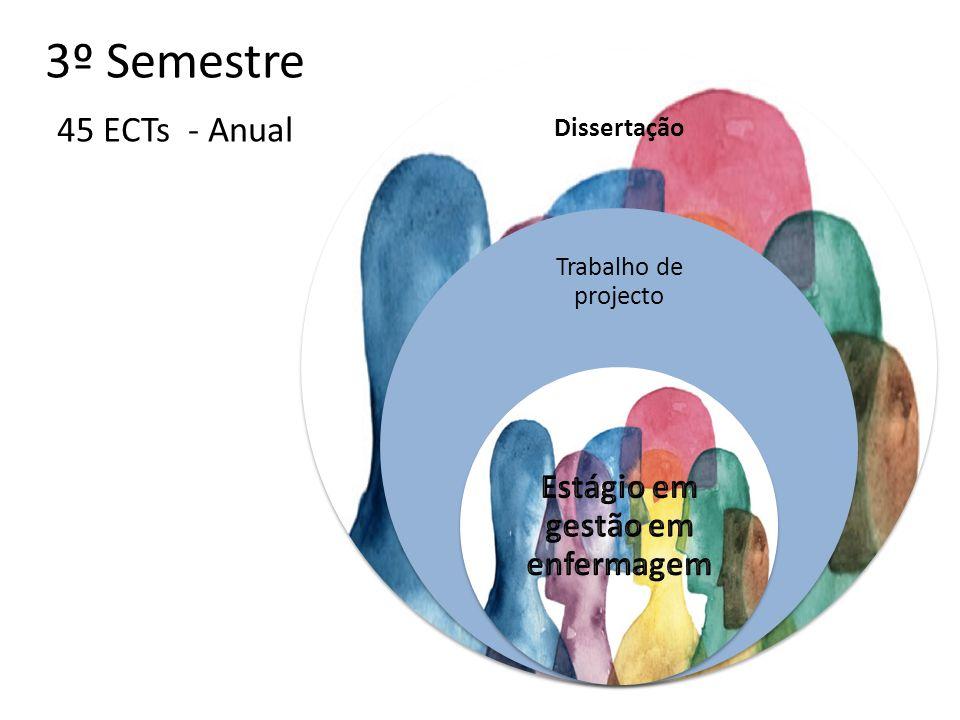 3º Semestre 45 ECTs - Anual Dissertação Trabalho de projecto