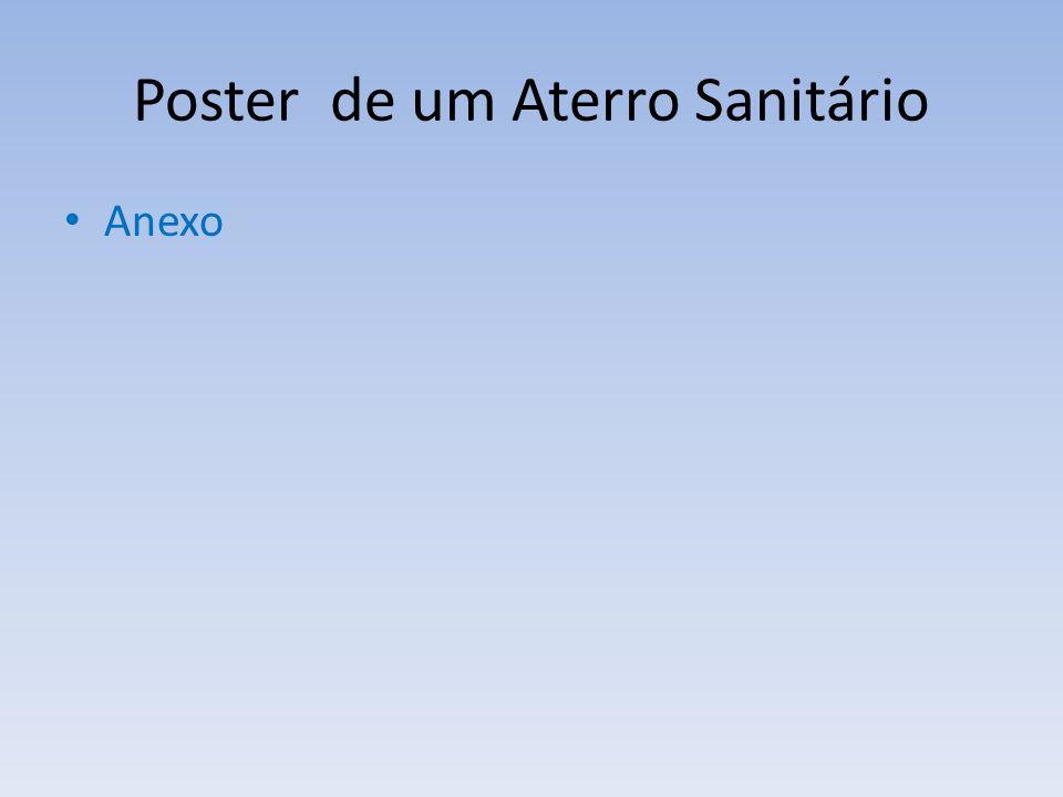Poster de um Aterro Sanitário Anexo