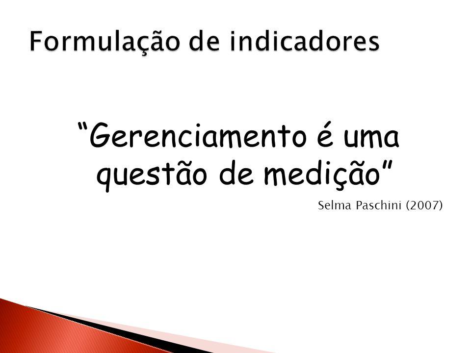 Gerenciamento é uma questão de medição Selma Paschini (2007)