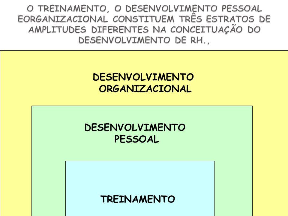DESENVOLVIMENTO ORGANIZACIONAL DESENVOLVIMENTO PESSOAL TREINAMENTO