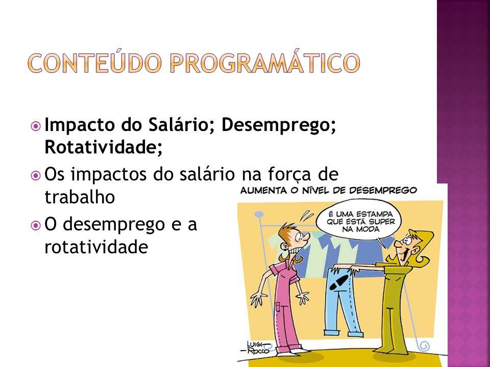 Impacto do Salário; Desemprego; Rotatividade; Os impactos do salário na força de trabalho O desemprego e a rotatividade