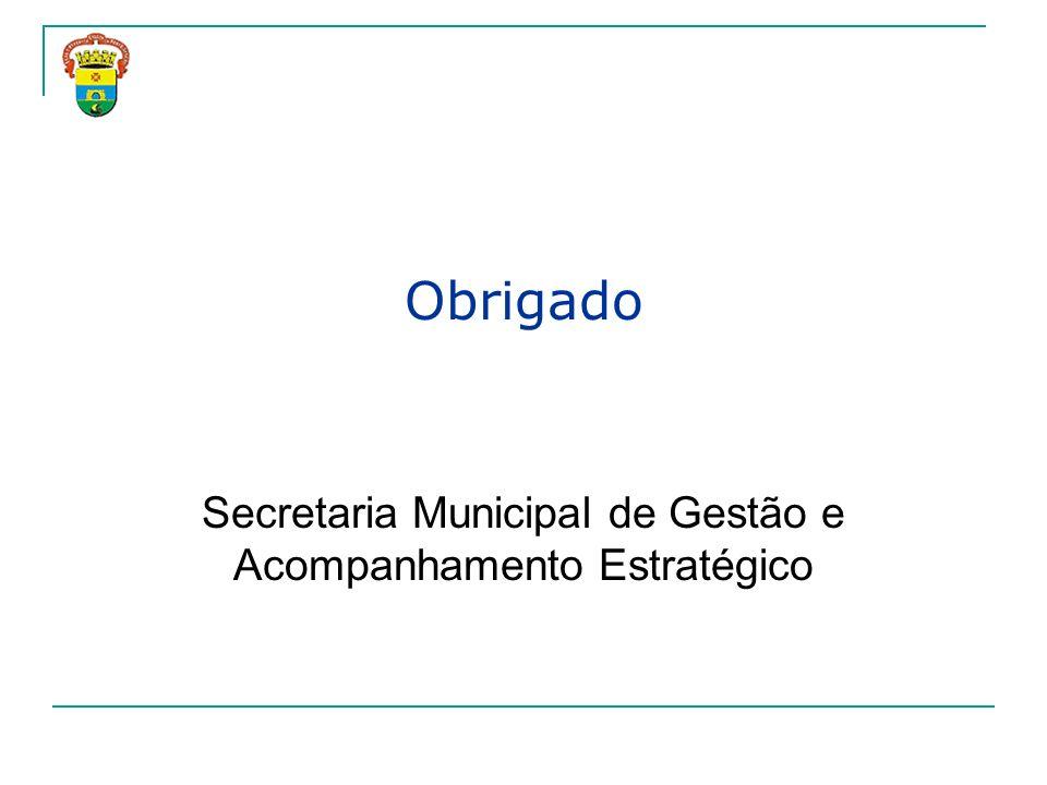 Obrigado Secretaria Municipal de Gestão e Acompanhamento Estratégico