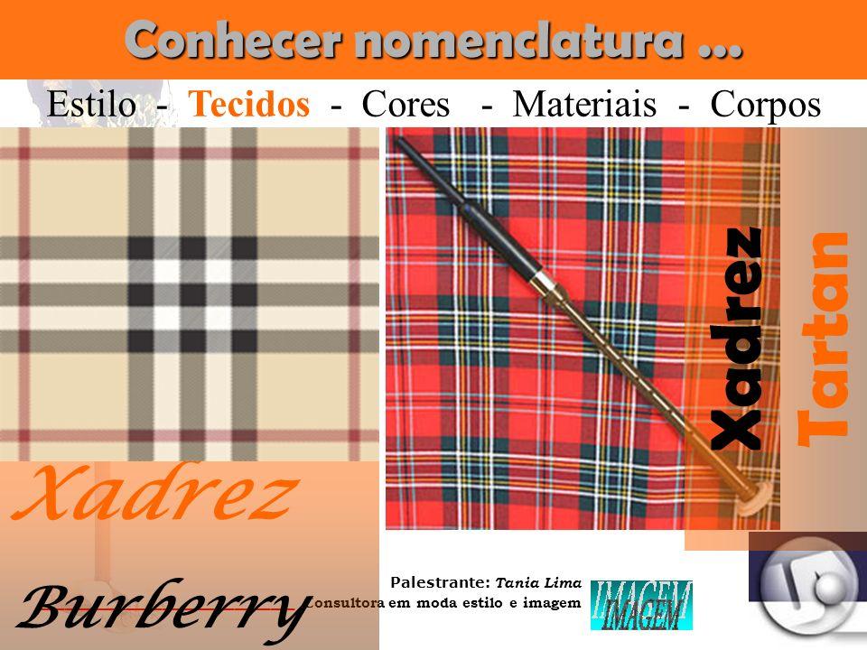 Palestrante: Tania Lima _____________________ C onsultora em moda estilo e imagem Conhecer nomenclatura... Clássica Estilo - Tecidos - Cores - Materia