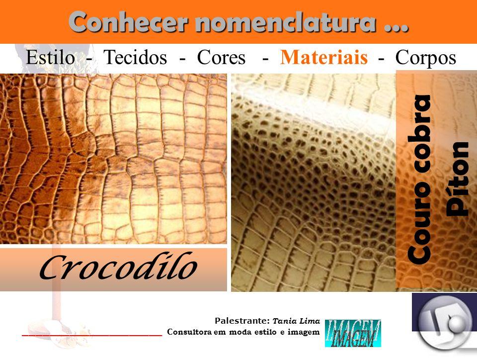 Palestrante: Tania Lima _____________________ C onsultora em moda estilo e imagem Conhecer nomenclatura... Coral Estilo - Tecidos - Cores - Materiais