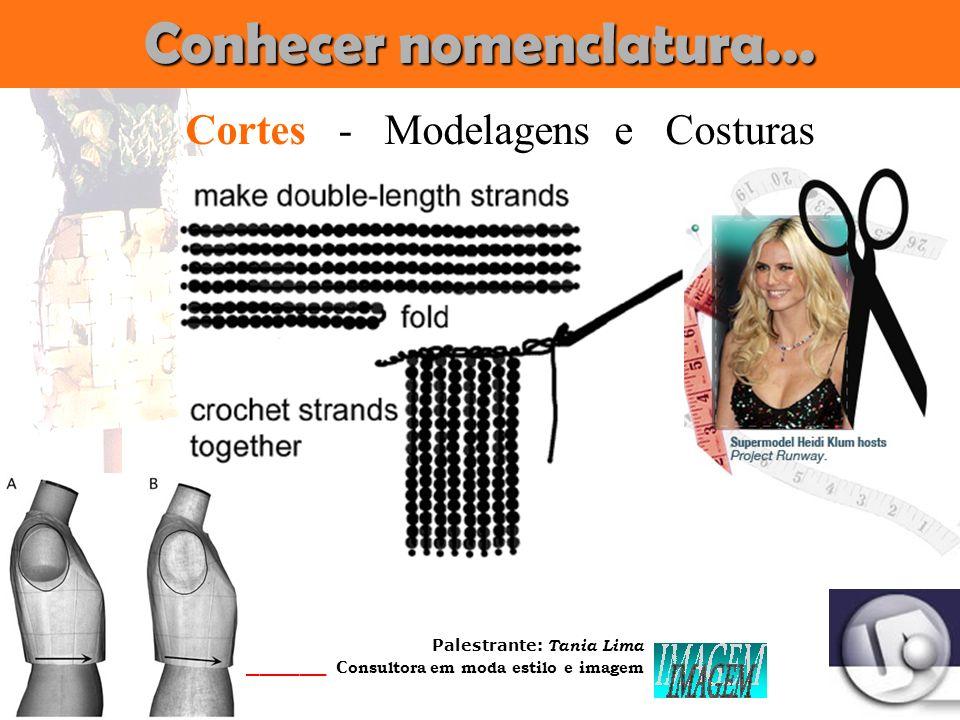 Palestrante: Tania Lima _____________________ C onsultora em moda estilo e imagem Conhecer nomenclatura... Longilíneo Estilo - Tecidos - Cores - Mater
