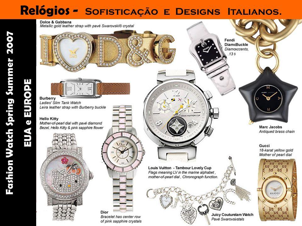 Palestrante: Tania Lima _____________________ C onsultora em moda estilo e imagem Acessórios Diversos - Bijoux em acrílico, madeira e dourado - Caps – bonés tipo boina - Cintos extra largos marcam as cinturas - Relógios sofisticados e exóticos - Óculos enormes em acetato claro anos 70 e estilo Jacquie O, a eterna musa dos fashionistas.