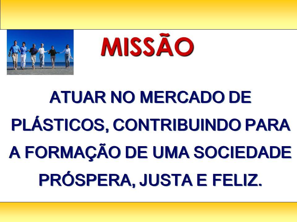 ATUAR NO MERCADO DE PLÁSTICOS, CONTRIBUINDO PARA A FORMAÇÃO DE UMA SOCIEDADE PRÓSPERA, JUSTA E FELIZ.