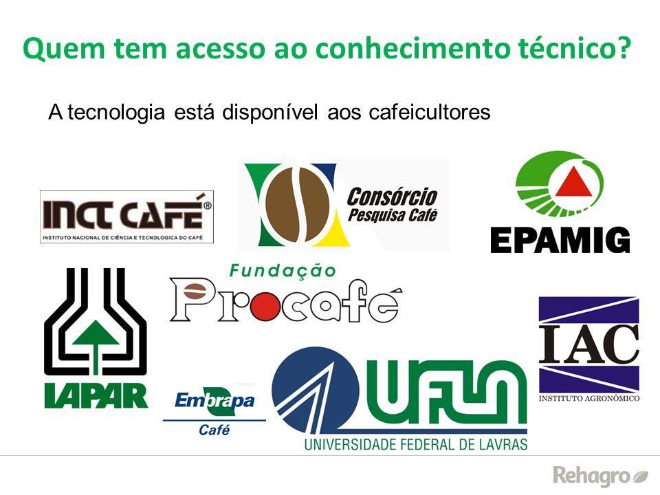 A tecnologia está disponível aos cafeicultores Quem tem acesso ao conhecimento técnico?