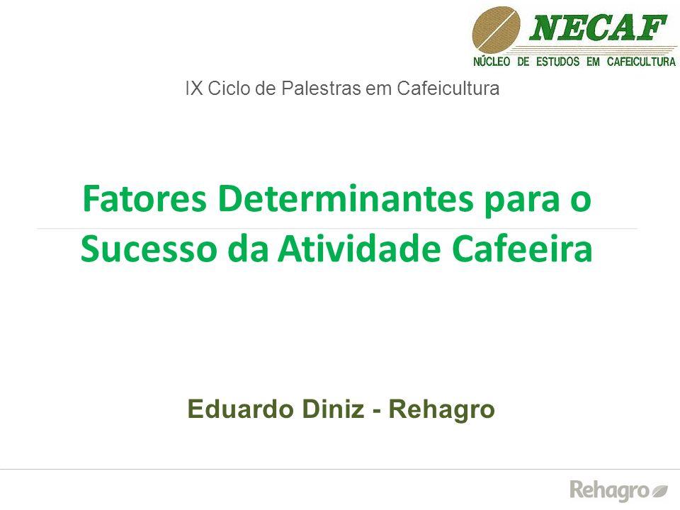 Fatores Determinantes para o Sucesso da Atividade Cafeeira IX Ciclo de Palestras em Cafeicultura Eduardo Diniz - Rehagro