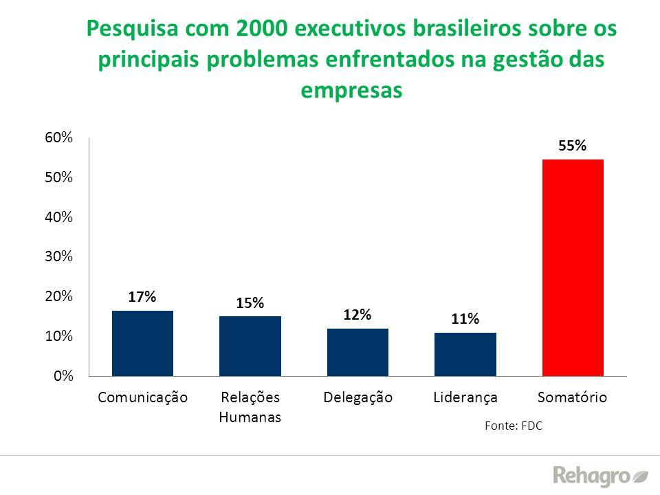 Pesquisa com 2000 executivos brasileiros sobre os principais problemas enfrentados na gestão das empresas