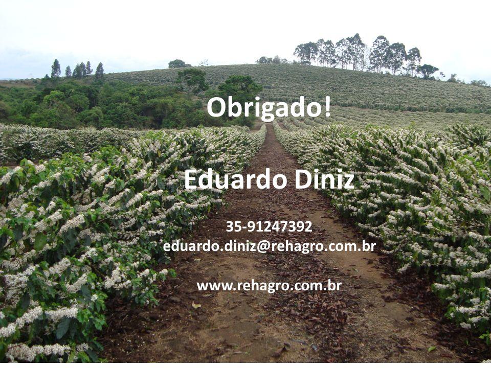 Obrigado! Eduardo Diniz 35-91247392 eduardo.diniz@rehagro.com.br www.rehagro.com.br