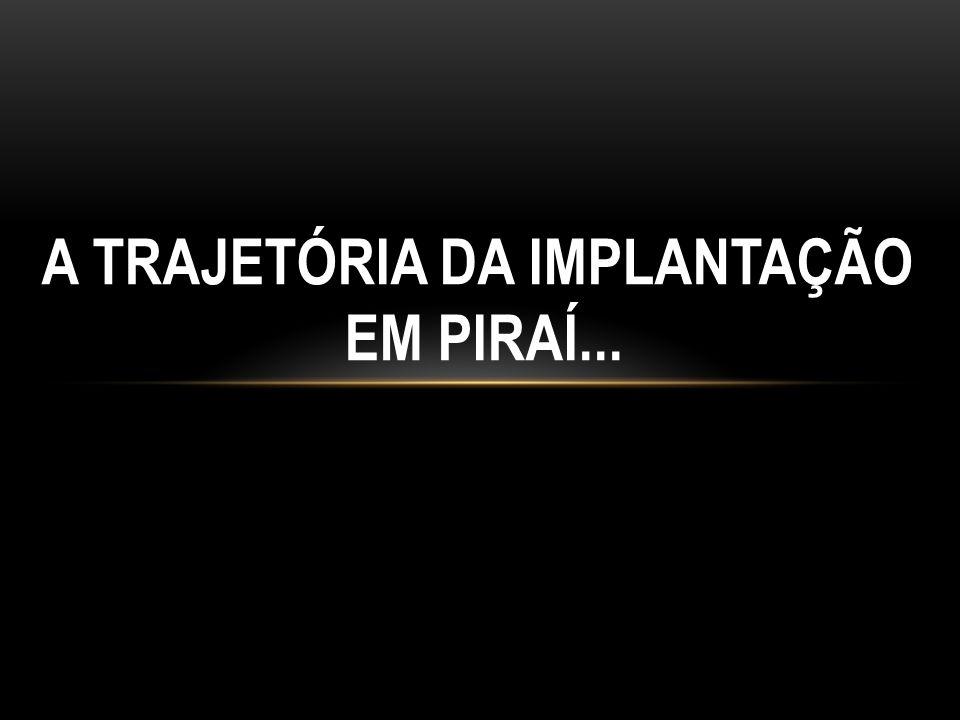 A TRAJETÓRIA DA IMPLANTAÇÃO EM PIRAÍ...