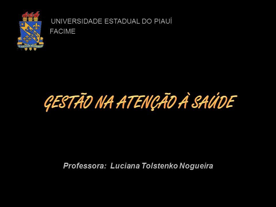 UNIVERSIDADE ESTADUAL DO PIAUÍ UNIVERSIDADE ESTADUAL DO PIAUÍ FACIME FACIME Professora: Luciana Tolstenko Nogueira