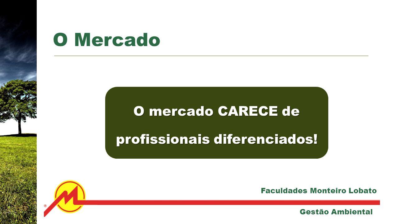 O mercado CARECE de profissionais diferenciados.