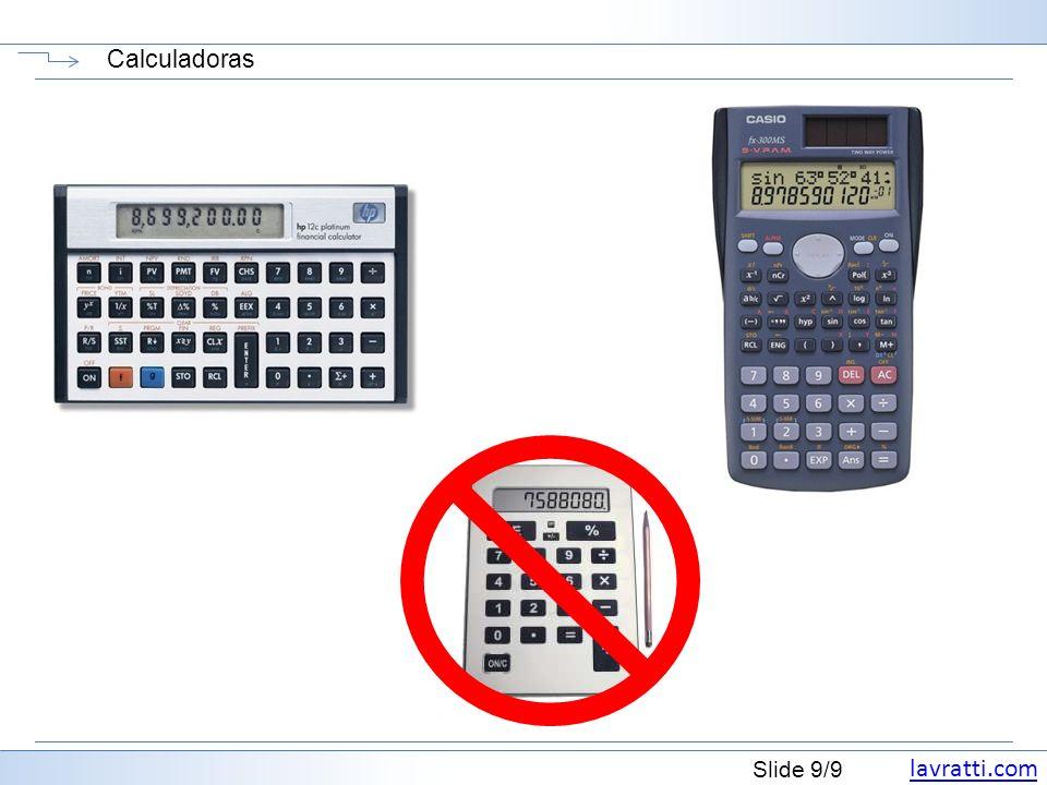 lavratti.com Slide 9/9 Calculadoras