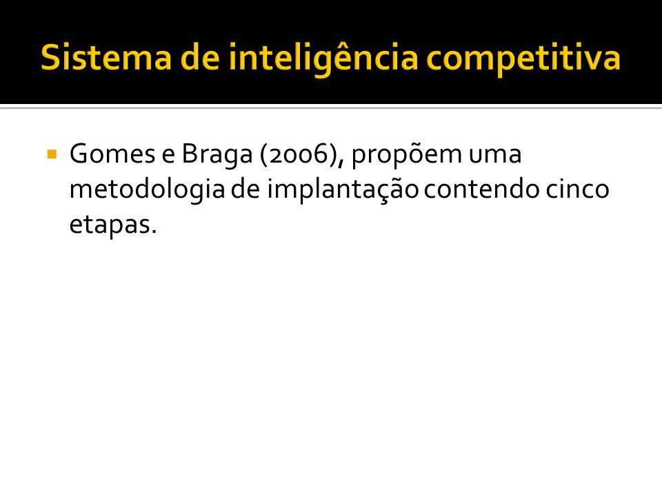 Gomes e Braga (2006), propõem uma metodologia de implantação contendo cinco etapas.