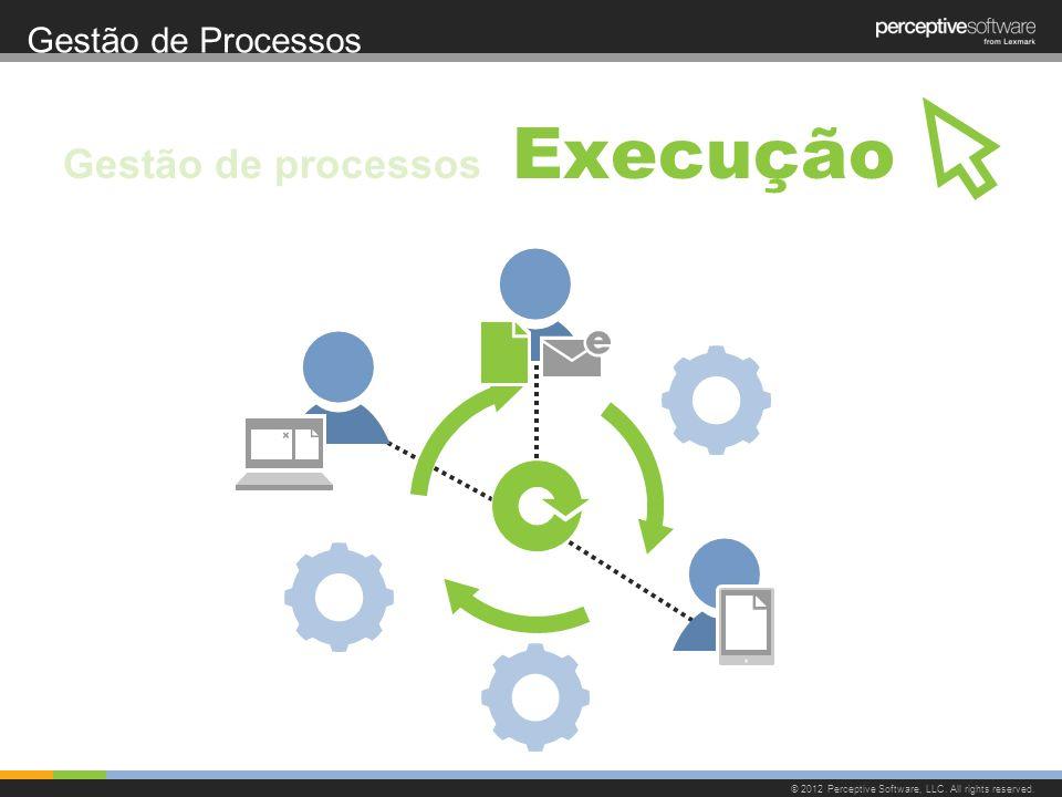 Gestão de Processos © 2012 Perceptive Software, LLC. All rights reserved. Execução Gestão de processos