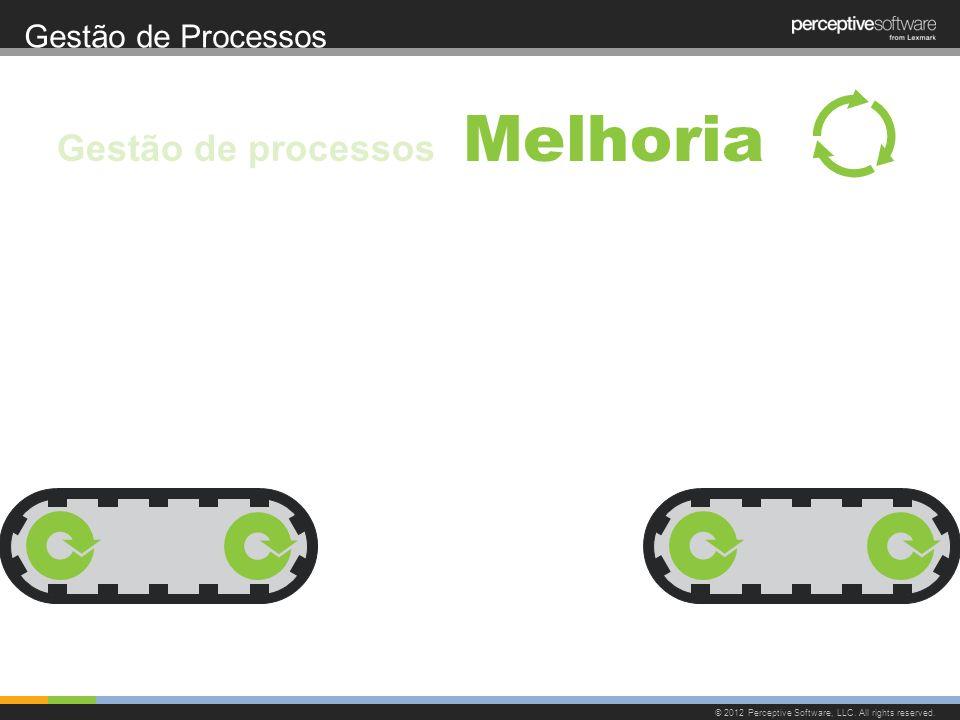 Gestão de Processos © 2012 Perceptive Software, LLC. All rights reserved. Melhoria Gestão de processos