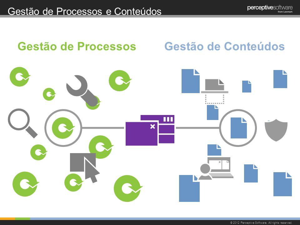 Gestão de Processos e Conteúdos © 2012 Perceptive Software. All rights reserved. Gestão de ProcessosGestão de Conteúdos