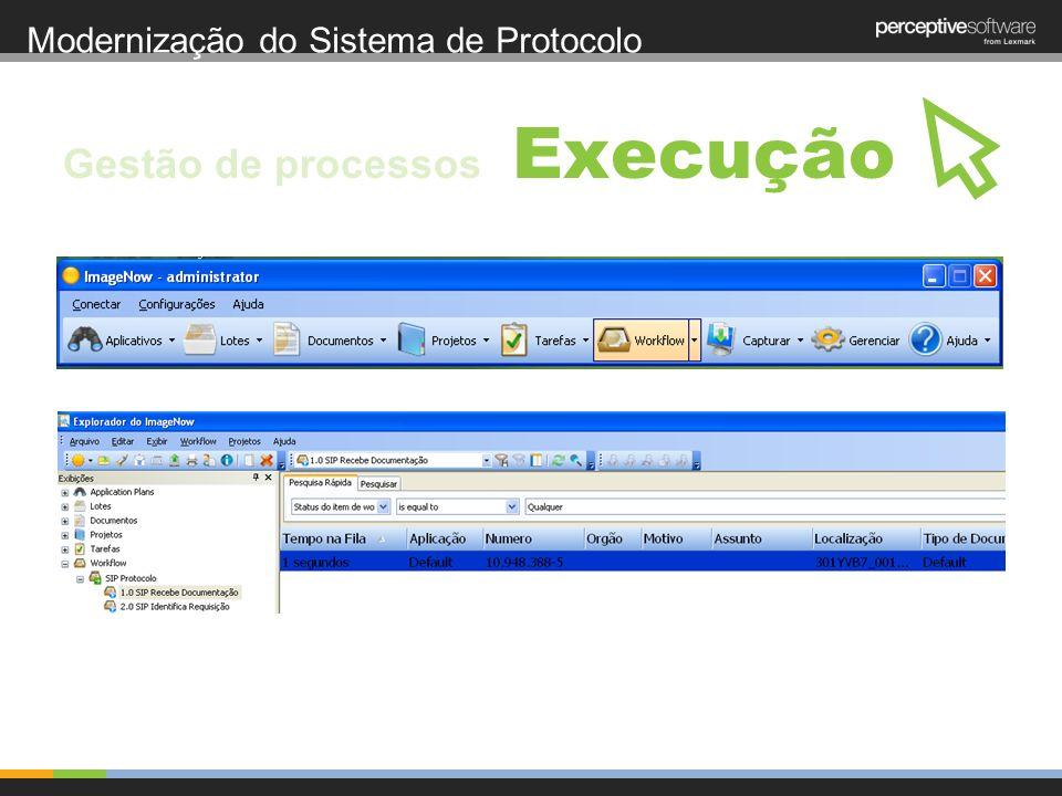 Modernização do Sistema de Protocolo Execução Gestão de processos