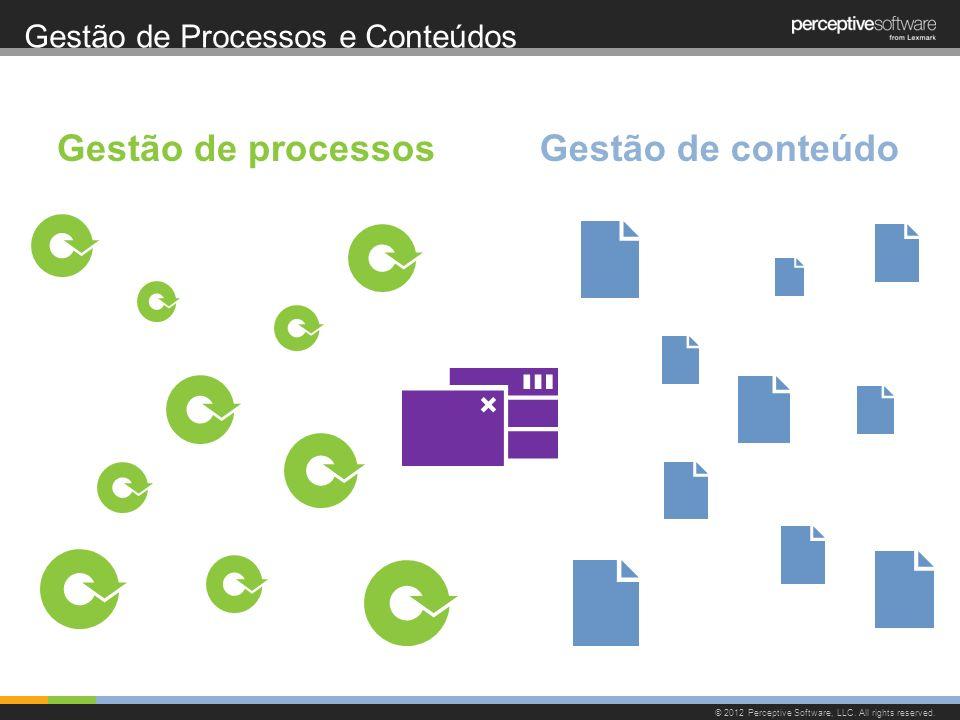 Gestão de Processos e Conteúdos © 2012 Perceptive Software, LLC. All rights reserved. Gestão de processosGestão de conteúdo