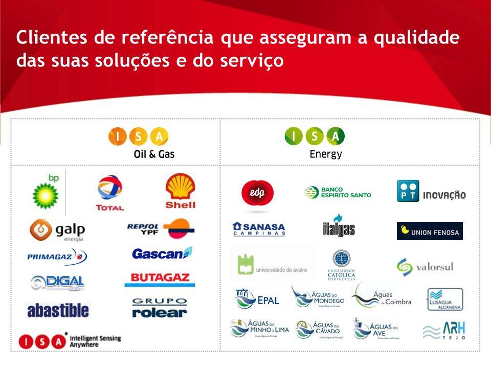 Clientes de referência que asseguram a qualidade das suas soluções e do serviço