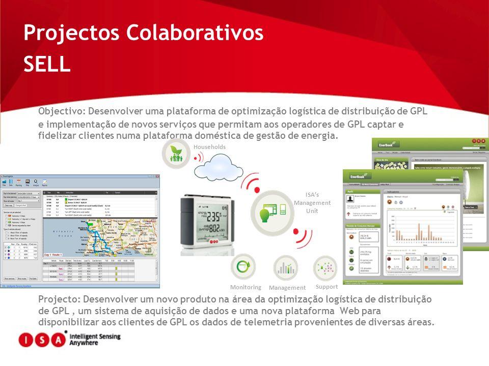 Projectos Colaborativos SELL Objectivo: Desenvolver uma plataforma de optimização logística de distribuição de GPL e implementação de novos serviços q