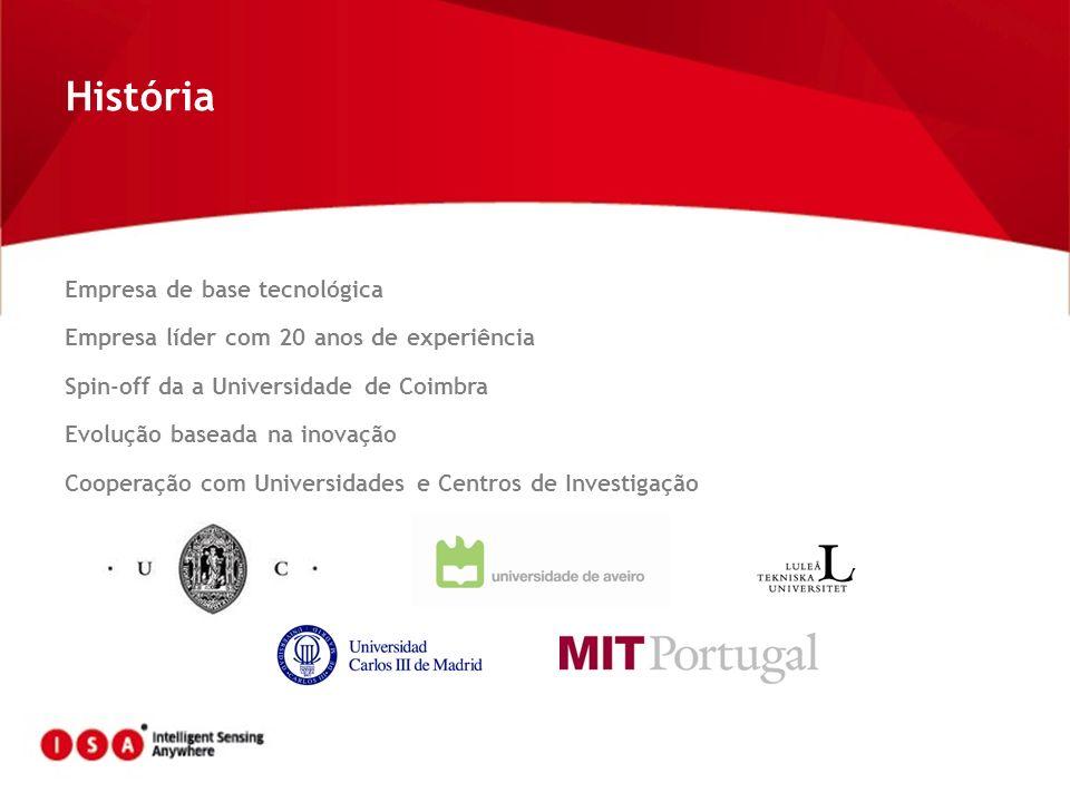 Empresa de base tecnológica Empresa líder com 20 anos de experiência Spin-off da a Universidade de Coimbra Evolução baseada na inovação Cooperação com