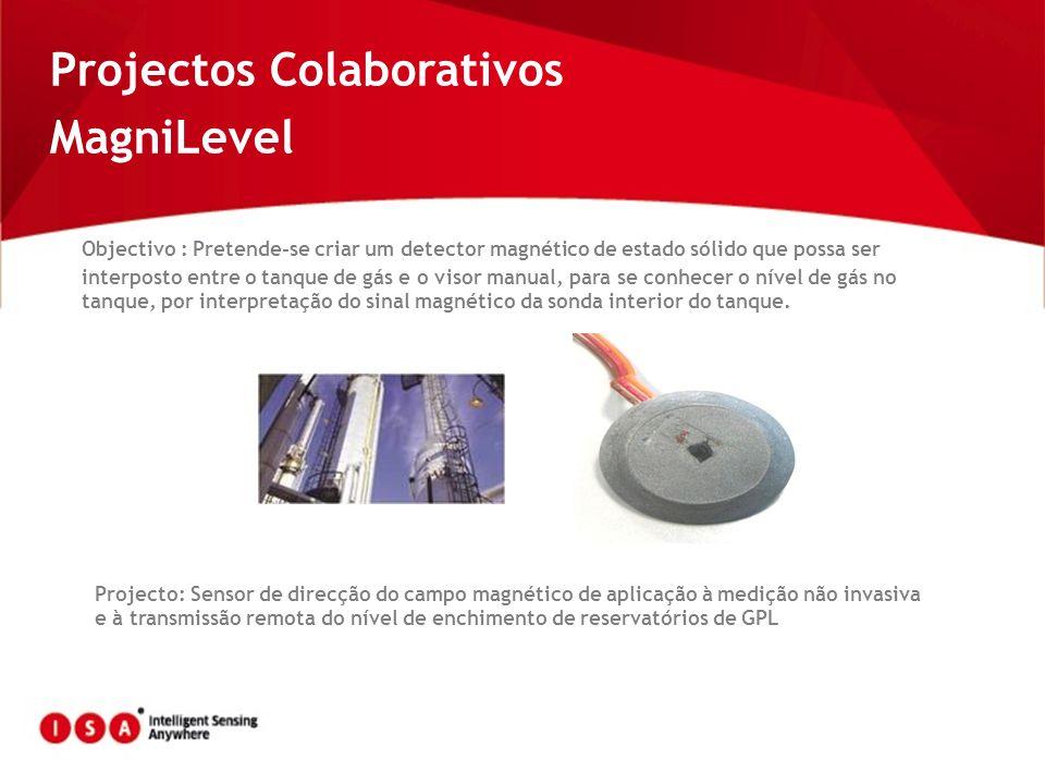 Projectos Colaborativos MagniLevel Objectivo : Pretende-se criar um detector magnético de estado sólido que possa ser interposto entre o tanque de gás