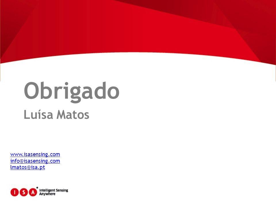 www.isasensing.com info@isasensing.com lmatos@isa.pt Obrigado Luísa Matos