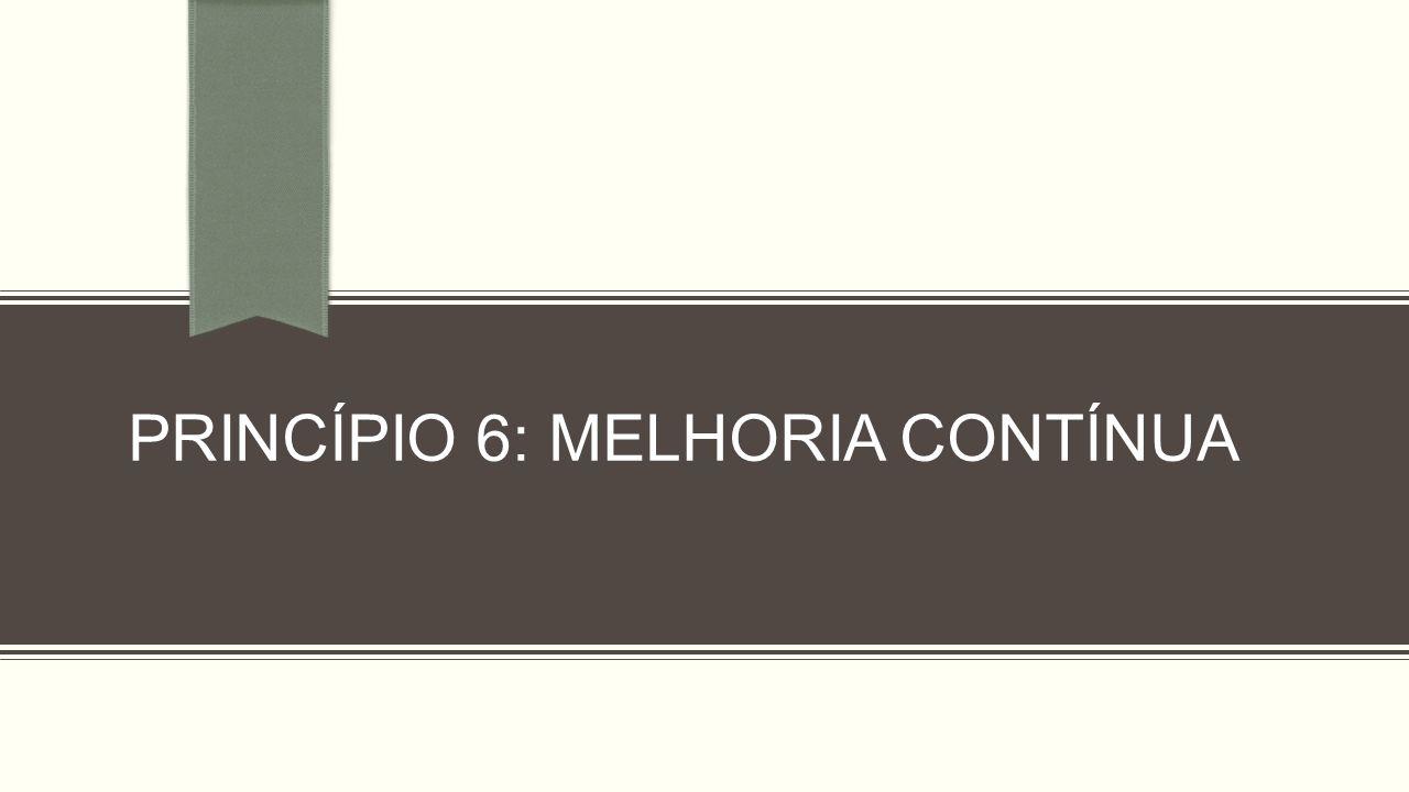 PRINCÍPIO 6: MELHORIA CONTÍNUA