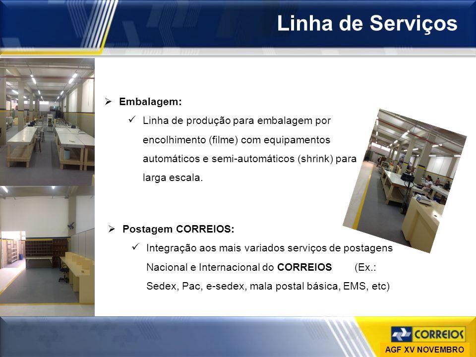 Ministério das Comunicações Empresa Brasileira de Correios e Telégrafos Vice-Presidência de Gestão de Pessoas DESAP Linha de Serviços Embalagem: Linha