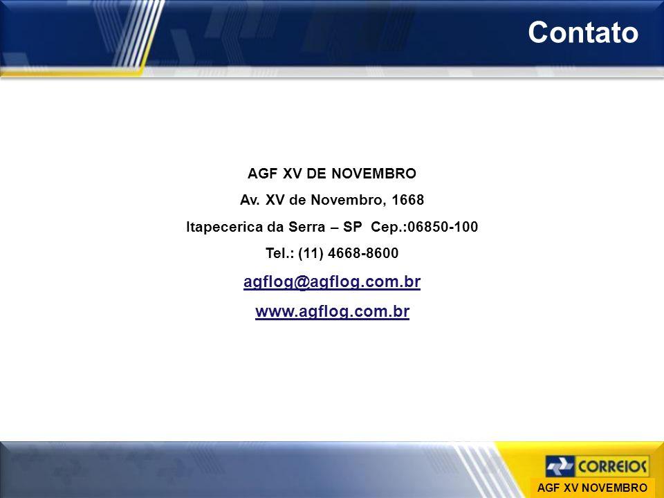 Ministério das Comunicações Empresa Brasileira de Correios e Telégrafos Vice-Presidência de Gestão de Pessoas DESAP Contato AGF XV DE NOVEMBRO Av. XV
