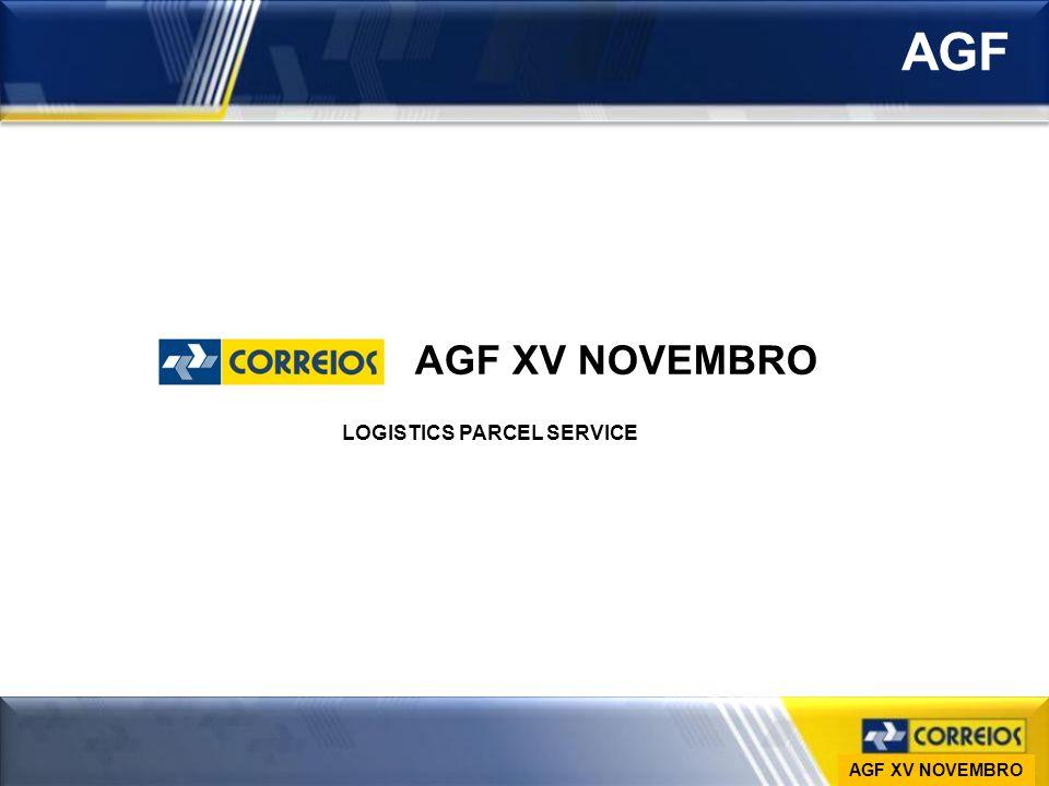 Ministério das Comunicações Empresa Brasileira de Correios e Telégrafos Vice-Presidência de Gestão de Pessoas DESAP AGF AGF XV NOVEMBRO LOGISTICS PARC
