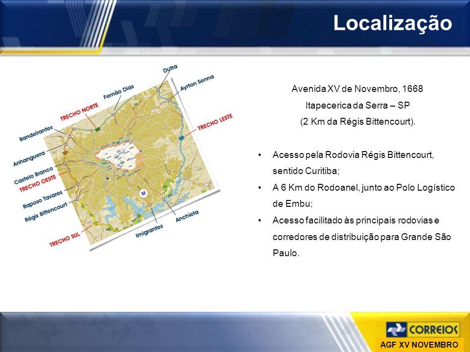 Ministério das Comunicações Empresa Brasileira de Correios e Telégrafos Vice-Presidência de Gestão de Pessoas DESAP Localização Avenida XV de Novembro