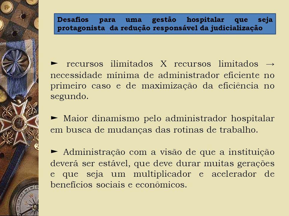recursos ilimitados X recursos limitados necessidade mínima de administrador eficiente no primeiro caso e de maximização da eficiência no segundo. Mai
