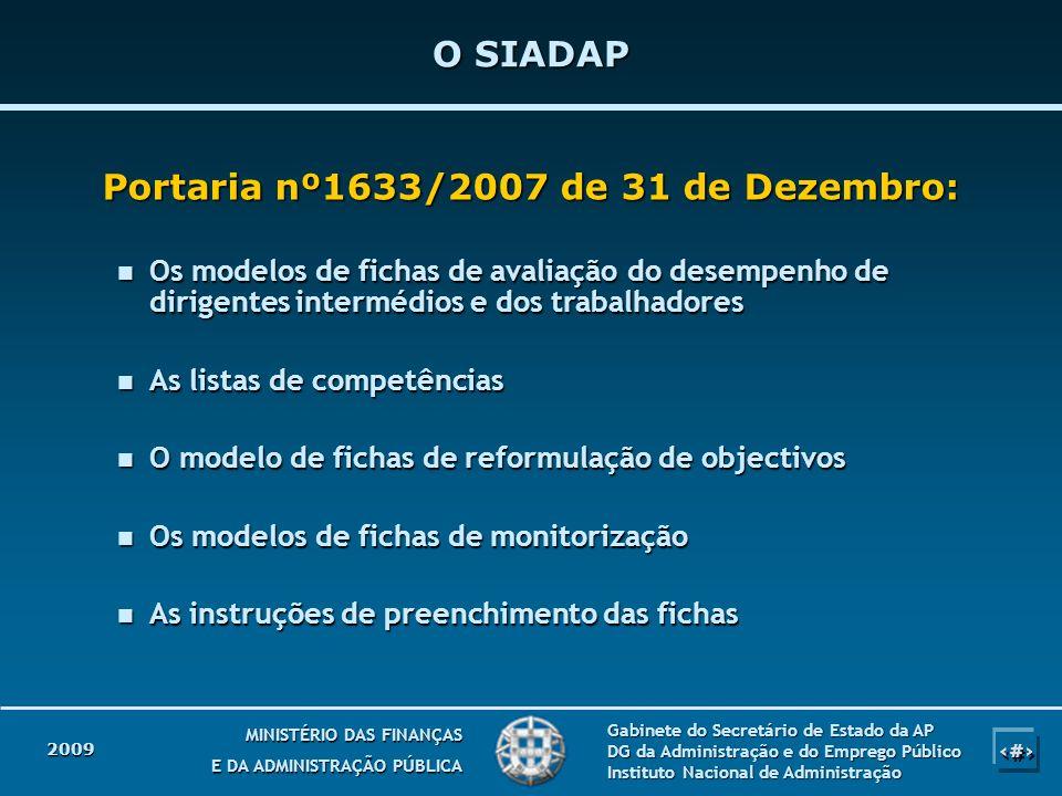 2 2 MINISTÉRIO DAS FINANÇAS E DA ADMINISTRAÇÃO PÚBLICA Gabinete do Secretário de Estado da AP DG da Administração e do Emprego Público Instituto Nacio