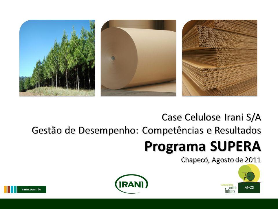 irani.com.br Programa SUPERA Consolidação das avaliações de Competências e Resultados SUFICIÊNCIA