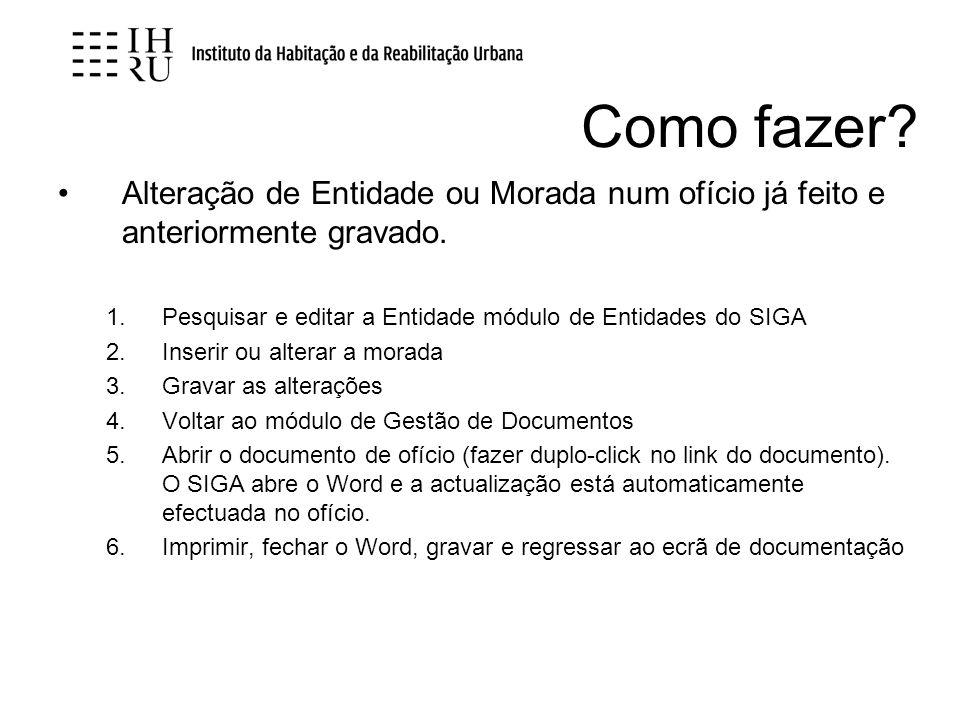Diversos Vamos arquivar, no SIGA, todos os documentos com data anterior a 31-12-2006 passando-os para o separador do Arquivo As directorias de expediente antigas manter-se-ão para separar os documentos INH dos documentos IHRU.