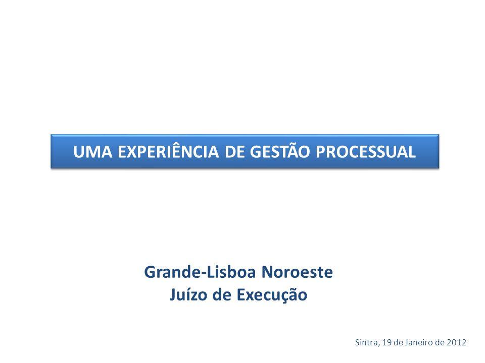 Grande-Lisboa Noroeste Juízo de Execução Sintra, 19 de Janeiro de 2012 UMA EXPERIÊNCIA DE GESTÃO PROCESSUAL