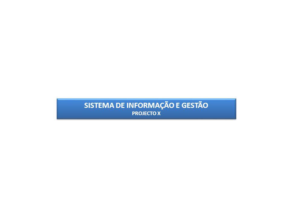 SISTEMA DE INFORMAÇÃO E GESTÃO PROJECTO X SISTEMA DE INFORMAÇÃO E GESTÃO PROJECTO X