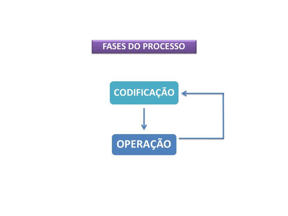 FASES DO PROCESSO CODIFICAÇÃO