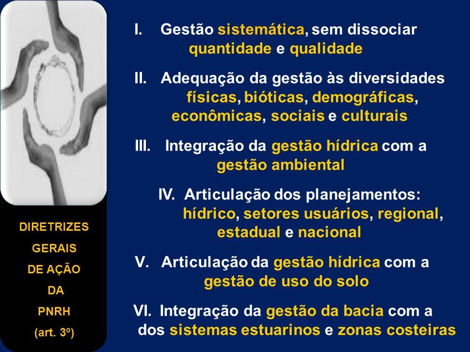 DIRETRIZES GERAIS DE AÇÃO DA PNRH (art.3º) I.