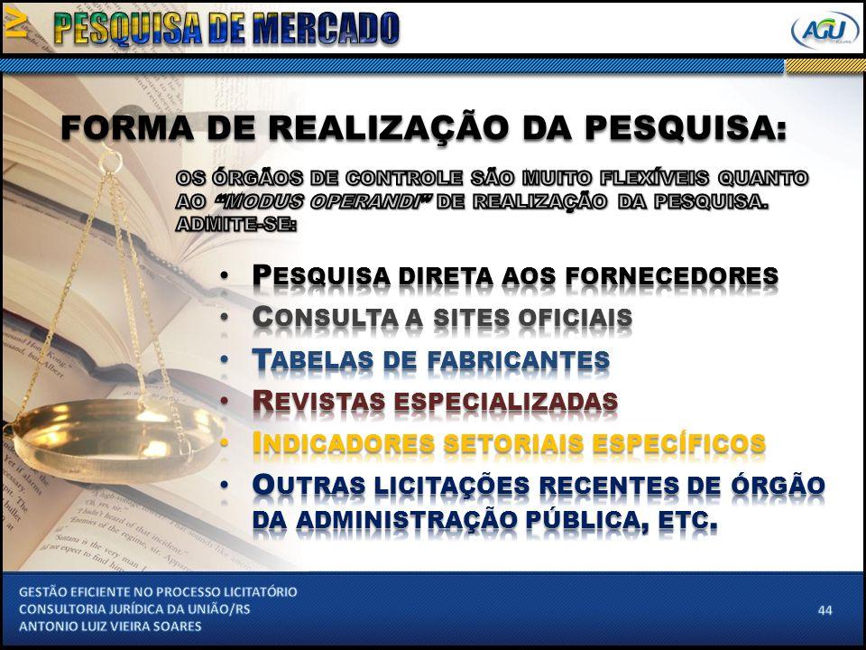 FORMA DE REALIZAÇÃO DA PESQUISA:
